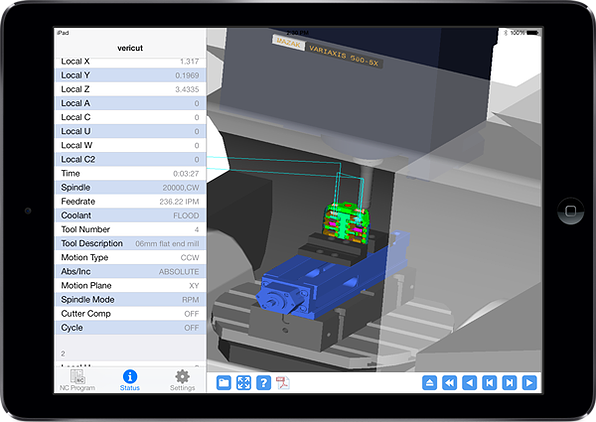 application ipad apple vericut cgtech ncsimulation usinage