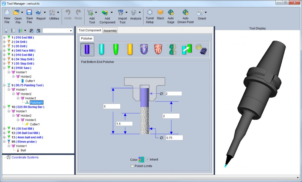 ToolManager vericut 7.4 cgtech simulation usinage