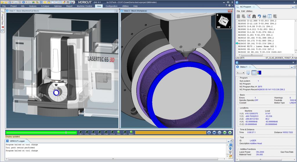 module Fabrication Additive de VERICUT