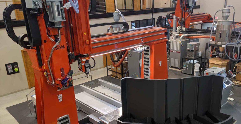Simulation d'imprimante 3D à grande échelle Thermwood avec VERICUT