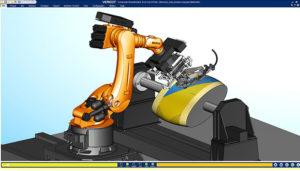 robot kuka de placement automatique de bandes de fibres composites