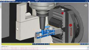 simulation d'un usinage sur une machine outil avec VERICUT 9.1