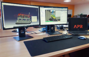 simulation du code cn chez APR avec le logiciel de simulation VERICUT de CGTech