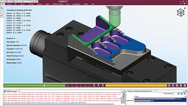 simulation d'usinage avec le logiciel vericut pour augmenter la productivite